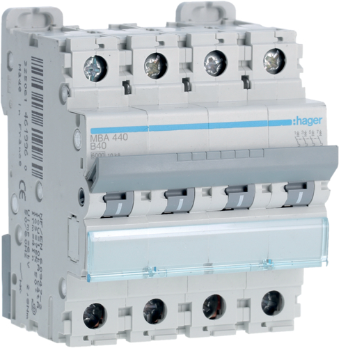 Caracter sticas t cnicas mba406 hager - Interruptor general automatico ...