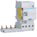 BR464N Bloque diferencial tipo AC selectivo,  para int. aut. series M y N,  4P, 63A,  500mA