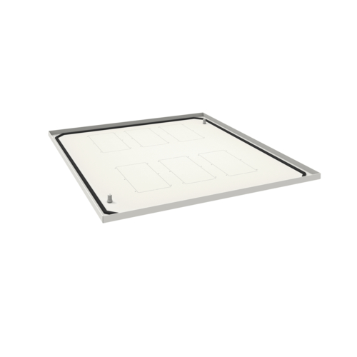 FN117E Placa inferior pasacables para armarios QuadroPlus de 1000x800 mm